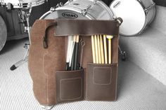 Leather drumstick bag leather stick bag by PinegroveLeather, £109.00
