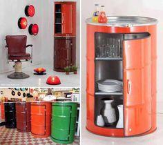 Simple Effective Kitchen Organization Ideas and Home Staging Tips Oil Barrel, Metal Barrel, Barrel Bar, Kitchen Storage Solutions, Kitchen Organization, Organization Ideas, Storage Ideas, Storage Bins, Rangement Caravaning
