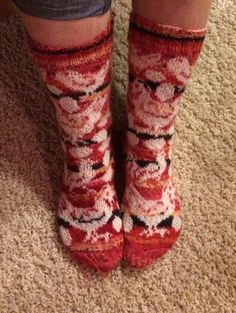 Chicken and rooster socks!  Pattern http://www.ravelry.com/patterns/sources/ingela-larssons-ravelry-store
