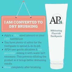 AP 24 Anti-Plaque Fluoride Toothpaste uses a safe, gentle form of fluoride to remove plaque and protect against tooth decay. Ap 24 Whitening Toothpaste, Whitening Fluoride Toothpaste, Teeth Whitening Remedies, Dry Brushing, Anti Aging Skin Care, Skin Care Tips, Nu Skin, Beautiful, Skin Products