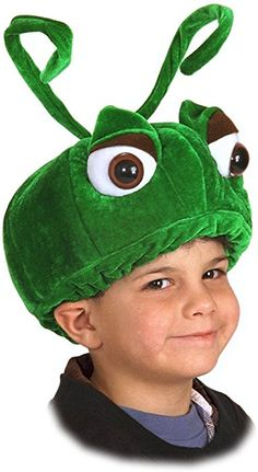 Perfect for the bug lover on your list, this grasshopper is sure to bring a smile to the face of a child. Constructed of green velvet, with bendable antennae, this grasshopper features cute bulging eyes and a comfortable elastic band. Ant Costume, Costume Hats, Costume Shop, Costume Ideas, Diy Costumes, Clever Halloween Costumes, Halloween Make Up, Halloween Sewing, Green Hats