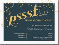 Gelbe Horizontale Standard-Einladungen - 139mm x 107mm mit Thema Überraschungs-Partei müssen Ihnen einfach gefallen