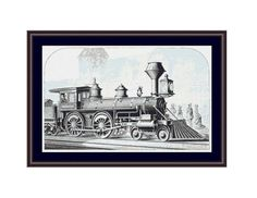 Vintage Locomotive Counted Cross Stitch Pattern / Chart,  Instant Digital Download   (AP278) Counted Cross Stitch Patterns, Cross Stitch Designs, Dmc Floss, Digital Pattern, White Patterns, Locomotive, Cross Stitching, Colours, Black And White