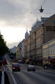 Näkymä Aurasillalta Aurakadulle - Turun keskusta