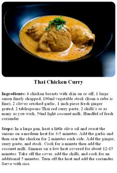 Daniel Green's Thai Chicken Curry