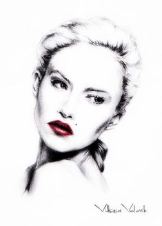 Custom Portrait Pencil Drawing from your photo, Portrait sketch, Portraits by commission, Portrait Portrait Sketches, Portrait Illustration, Portrait Art, Portraits, Pencil Drawing Tutorials, Pencil Drawings, Art Drawings, Lips Sketch, Lipstick Art