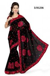 Designer Black Colour Chiffon Saree at $38.8 USD Only For more details visit- http://buyapparel.in/index.php/catalogsearch/result/?q=BYDSK_Vol3