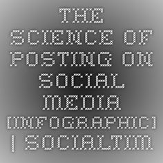 The Science of Posting on Social Media [INFOGRAPHIC] | SocialTimes
