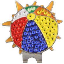 Sun hat clip and Beachball ball marker