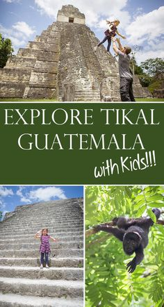 The ruins in Tikal, Guatemala are a wonderful place for a family trip!  Get there quick before the world discovers it's wonders!