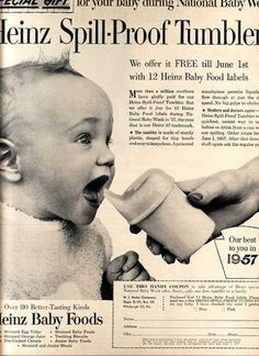 1957 sippy cup ad.  I had no idea that sippy cups were available so long ago.