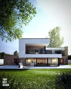 21 ideas house architecture modern design for 2019 Architecture Design, Modern Architecture House, Modern House Design, Contemporary Design, Contemporary Apartment, Contemporary Chandelier, Contemporary Landscape, Modern Glass House, Contemporary Stairs
