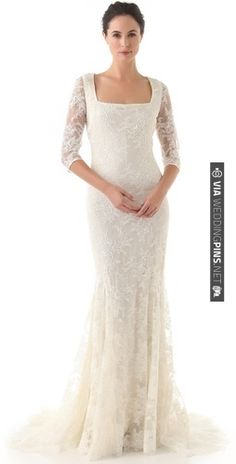 save 35% on your Badgley Mischka vintage wedding lace gown. the loveliest sleeves we have ever seen. | CHECK OUT MORE IDEAS AT WEDDINGPINS.NET | #bridesmaids