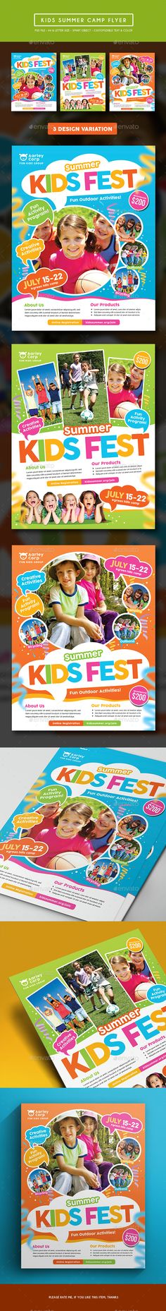 Kids Summer Camp Flyer  - Corporate Flyers.Download here: http://graphicriver.net/item/kids-summer-camp-flyer-/15249803?ref=arroganttype