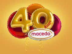 40 anos Macedo by Amello Ilustração , via Behance