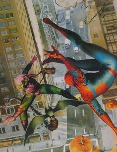 Spiderman vs Green Goblin by John Watson