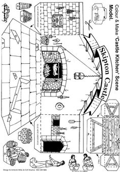 Medieval Ages Unit- Skipton Castle Free Childrens Activity Sheets for Schools Middle Ages History, History Class, Medieval Crafts, Medieval Party, Tapestry Of Grace, Ancient History, European History, Ancient Aliens, American History