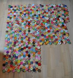 Hexagons!  I think this is what I will do with all my scraps!!