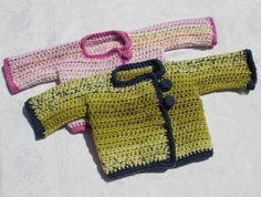 Chaqueta Bebé ganchillo. Tutorial chaqueta y Tutorial boton *** ❥Teresa Restegui http://www.pinterest.com/teretegui/❥***