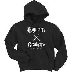 cool Hogwarts Graduate - Harry Potter Hoodie Sweatshirt Check more at https://ballzbeatz.com/product/hogwarts-graduate-harry-potter-hoodie-sweatshirt/