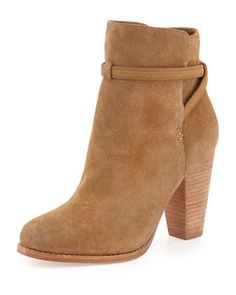 Want!!!! Rigby Suede Crisscross Ankle Bootie, Dune by Joie at Neiman Marcus.