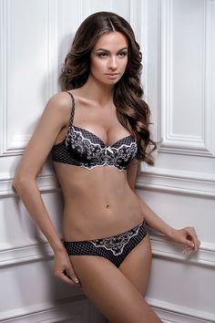 #lingerie #black and white #Jasmine