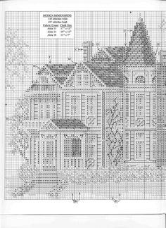 ru & Фото - Morton Home - mornela Cross Stitch House, Cross Stitch Tree, Cross Stitch Charts, Cross Stitch Embroidery, Hand Embroidery, Cross Stitch Patterns, Blackwork Patterns, Embroidery Patterns, Morton Homes