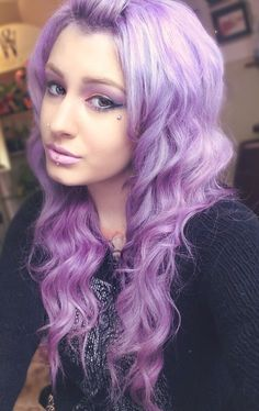 Lilac lavender purple hair