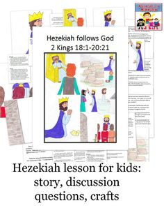 Please check for Biblical accuracy.  thank you....Hezekiah lesson for elementary kids