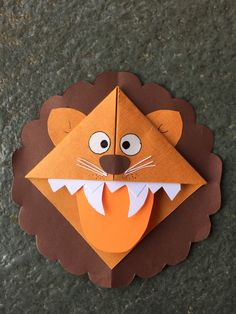 Cute animal corner bookmark fun activity for kids, cute gift idea _ Lion