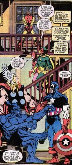 Interior panel to Avengers Annual#7(1977)by Jim Starlin.