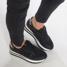 Pantofi sport cu platforma negri de dama cu pietre și din materiale pe exterior combinate it240118-43 | Fashionmix.ro Giuseppe Zanotti Design, Vans Old Skool, Lei, Sneakers, Shoes, Fashion, Sandals, Tennis, Moda