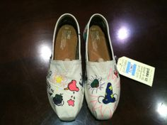Funky Disney World Inspired TOMS by ToesAndBowsBoutique on Etsy