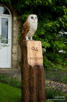 Chainsaw carving owl etsy