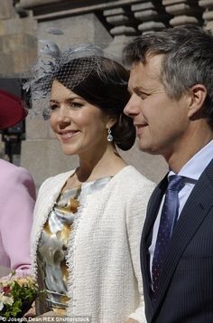 Guests: The Earl and Countess of Wessex and Mary and Frederik of Denmark will be among the guests at the wedding of his cousin, Prince Carl Philip.