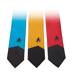Star Trek TNG Ties | ThinkGeek | Science blue, of course... It's just a damn shame these don't come in TOS (and skinny)