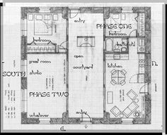 The awesome shotgun house plans home decorating ideas for One story house plans with center courtyard