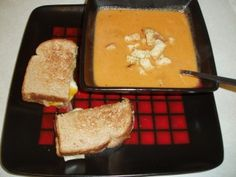 Tomato and Gruyere Soup. I made this tonight it is awesome!