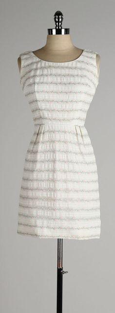 vintage 1960s dress . ivory sleeveless mini . by millstreetvintage