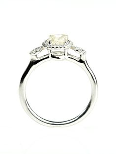 Our Deco rough diamond engagement ring. #jewelry #weddings #spring