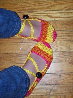 SLIPPERS! *With Pattern* - CROCHET