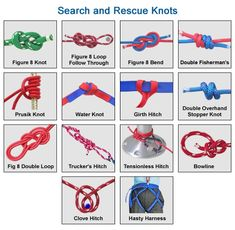 Search and rescue knots