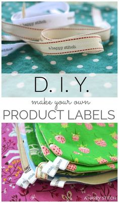 Learn how to make your own Product Labels! Use them to label all your handmade goods. Perfect for spreading your brand name at artisan markets without expensive custom made labels! DIY-Handmade-Product-Labels-Make-Them-Yourself-A-HAPPY-STITCH-tutorial Selling Handmade Items, Handmade Tags, Handmade Baby Items, Handmade Market, Handmade Products, Sewing Machine Projects, Sewing Projects For Kids, Quilt Labels, Fabric Labels