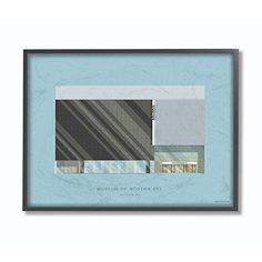 Moma Stupell Industries Famous Museum Building #Sponsored , #Ad, #Industries#Stupell#Moma Black Framed Wall Art, Frames On Wall, Museum Of Modern Art, Modern Wall Art, Thing 1, Fall Mantel Decorations, Moma, Building Design, Wood Print