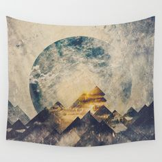 Buy One mountain at a time by HappyMelvin as a high quality Wall Tapestry. Worldwide shipping available at Society6.com. Just one of millions of products available.