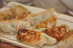 Mandu (potstickers) easy to follow recipe and video.  I replaced ground pork with chicken.