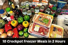 10 Crockpot Freezer Meals in 2 Hours - With this plan you will have 10 healthy slow cooker freezer meals ready for you family in just 2 hours!