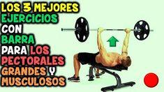 Los 3 Mejores, EJERCICIOS CON BARRA   Para LOS PECTORALES, Grandes y Mus...