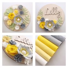 The Pretty Petal Shop ( Paper Flowers Diy, Handmade Flowers, Felt Flowers, Flower Crafts, Fabric Flowers, Felt Flower Wreaths, Felt Crafts Diy, Felt Diy, Fabric Crafts