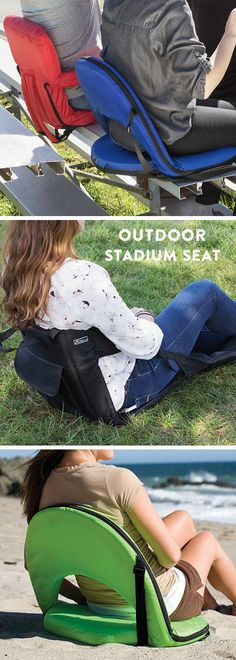 Get prime seating wherever—picnics, tailgates, stadiums. These comfy recline-able chairs are made for easy travel.